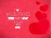 Template valentines day up to sale 50 percent card and banner. — Stock fotografie