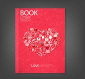 Report red icon heart Valentines day card with sign on Icon love — Stock fotografie