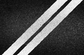 Asphalt texture with road markings background, illustration vect — Stock Photo