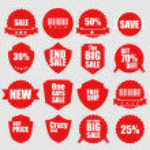 Set of sale icons & design elements, illustration vector — Stock Photo #66968565