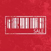 Sale vintage abstract grunge red background, illustration vector — Stock Photo