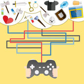 Game items. vector illustration — Stock Photo