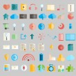 Social network with media icons, vector illustration — Stock Photo #74232187