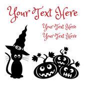Modèle de carte d'halloween — Vecteur