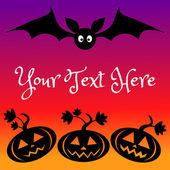 Halloween kartu šablona — Stock vektor