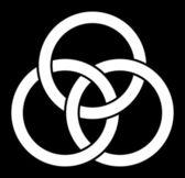 Borromean rings (three interlaced rings) — Stock Vector