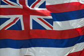 Hawaii flag weaving — Stock Photo