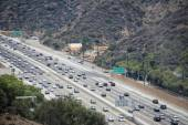 Los angeles congested highway — Stock Photo