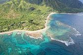 Kauai napali coast aerial view — Stock Photo