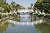 Los angeles venice canals — Stock Photo