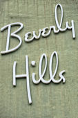 Beverly hills los angeles sign — Stock Photo