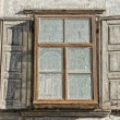 Vintage Wood cabin hut window — Stock Photo #54030315