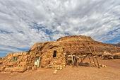 Arizona pustynia widok z czerwonych skał — Zdjęcie stockowe