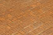 Fireman Monument on brick floor in Ocean City — Stock Photo