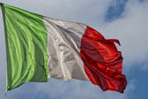 Italian flag of Italy green white and red — Stock Photo