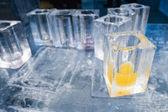 冰酒店酒吧酒馆冰块玻璃 — 图库照片