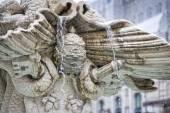 Detail of triton fountain in rome — Stock Photo