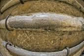 Roman ancient lead pipe — Stock Photo