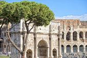 Konstantin-Bogen in Rom — Stockfoto
