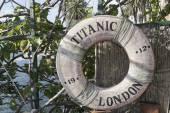 Titanic ship life buoy — Fotografia Stock