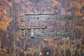 Medieval jail door — Stock Photo