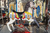 Old carousel horse — Stock Photo