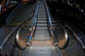 Metro moving escalator — Stock Photo