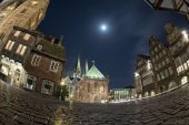 Bremen old town night view — Stock Photo