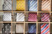 Silk tie on display — Stock Photo