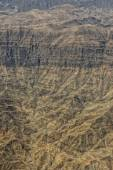 Oman mountains aerial view landscape — Stock Photo