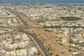 Muscat arabic town aerial view landcape — Stockfoto