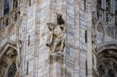 Milan 2005 Expo capital Cathedral statue detail — Stock Photo