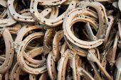 Welded horseshoes — Stock Photo