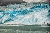 Hubbard Glacier while melting in Alaska — Stock Photo