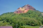 View of active volcano, Usu zan National Park, Hokkaido, Japan — Stock Photo