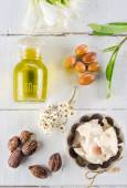 Argan and shea nut and butter — Stock Photo