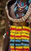 Women's dresses from Hamer tribe — Stock Photo