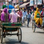 Traffic in the streetsof Amritsar, india — Stock Photo #76114275