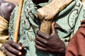 Hands of a Arbore man — Stock Photo