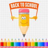 Torna a scuola — Vettoriale Stock