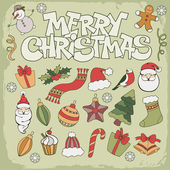 Merry christmas simgesi — Stok Vektör