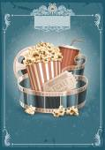 Cinema vintage background — Stock Vector
