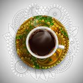 Taza de café de lujo — Vector de stock