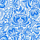 Gzhel seamless pattern — Vecteur