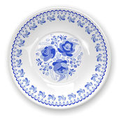 Plate with ornament — Vecteur