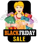 Black friday sale — Stock Vector