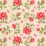 Retro flower card- roses — Vecteur #61526831