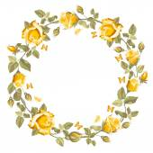 Wreath from rose — Stockvector