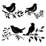 Bird on branch — Stock Vector #62043039