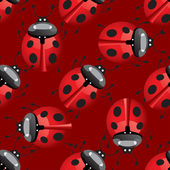 Seamless pattern with lady bug — Stock Vector